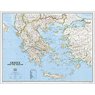 National Geographic Greece Political 30x24