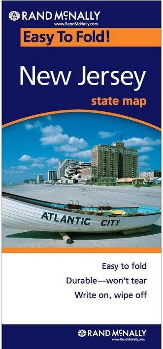 New Jersey Easy To Fold Map - Rand mcnally easy to fold maps