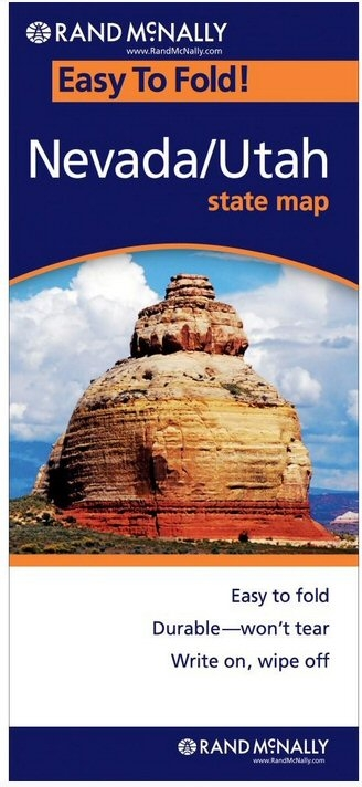Nevada Utah Easy To Fold Map - Rand mcnally easy to fold maps