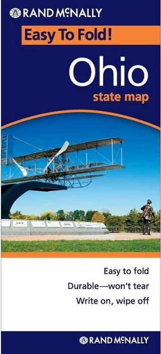 OHIO Easy To Fold Map - Rand mcnally easy to fold maps