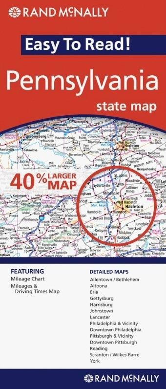 Pennsylvania Fold Map - Rand mcnally easy to fold maps