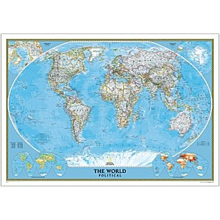 National Geographic Political World 42 x 30