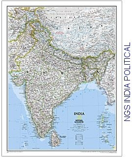 Sri Lanka Political Map.National Geographic India Sri Lanka Political 23x30