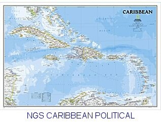 National Geographic Caribbean 36x24