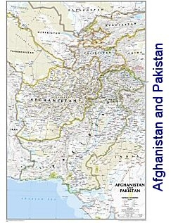 National Geographic Afghanistan And Pakistan Political Map 21x32