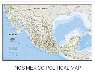 National Geographic Mexico Political 31x21