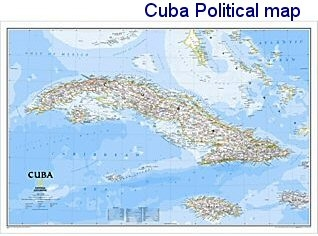 National Geographic Cuba Political Map 36x24